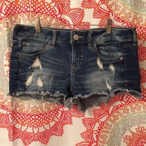 Express Jeans 8 Cut Off Distressed Frayed Shorts